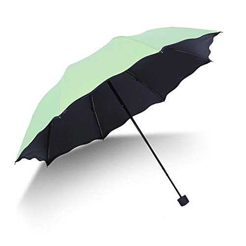 Maria-UK paraguas abierto agua paraguas de vinilo protector solar lluvia o brillo paraguas doble uso Sra. (color: 2)