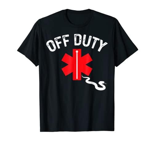 オフデューティー スネーク 救急隊員 ファニー看護師 EMS ファーストレスポンダー Tシャツ
