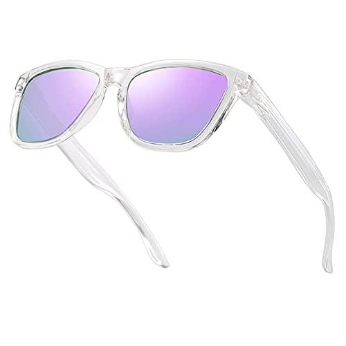 BDBY Gafas de Sol REDONDULAS RECTANGULAS CLÁSICAS, Marco de PC Retro de los Hombres, Gafas de Sol Anti-Ultravioleta Coloridas Multicolor, Gafas de Montar al Aire Libre S