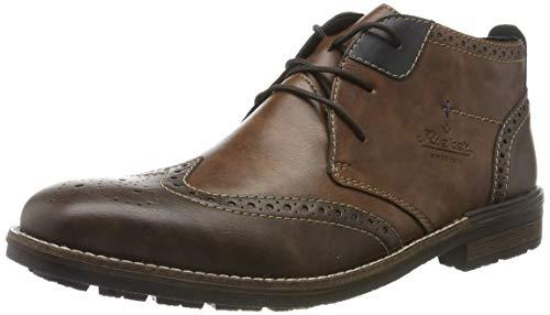 Rieker Herren B1343 Klassische Stiefel, Braun (Toffee/Wood/Ozean 25), 41 EU