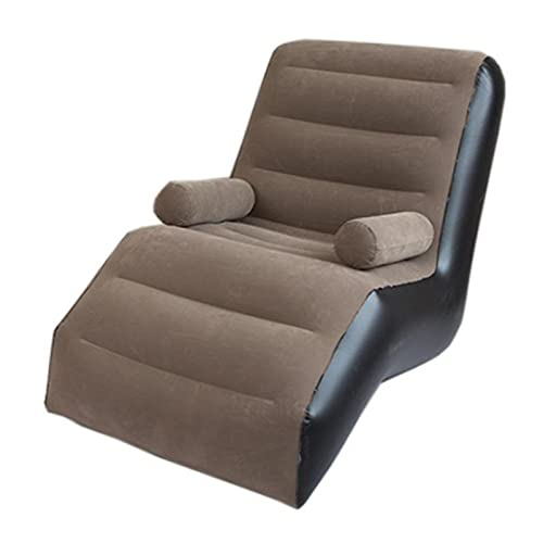 Vigcebit - Sofá hinchable para interior o exterior, sofá hinchable, sofá reclinable con forma de S, para descansar en casa o en la oficina