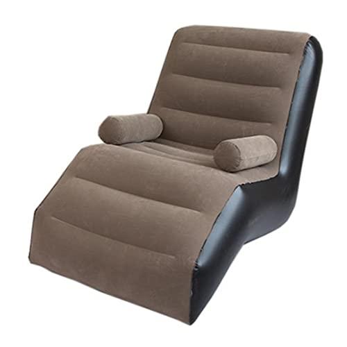 K-Park Sillón hinchable plegable para tumbona, sofá cama, sofá flojo, sofá inflable, silla de salón inflable familiar, con reposabrazos, adecuado para el hogar honesto