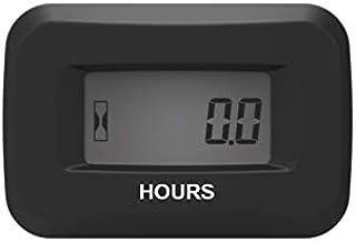 Jayron LCD Digital Contador de Horas Kit AC/DC 5V a 277V para cortacésped generador de Tractor Club de Golf Club Lavadora de automóviles Marino Motor compresor y Equipo neumático (Negro)