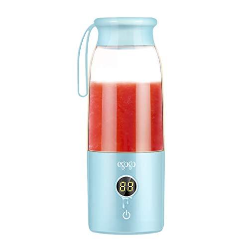 Sulifor Juicer LED Digitalanzeige - 420ML, Juicer Mini tragbarer Mixer Usb Juicer Frucht Smoothie Cup (Grün)