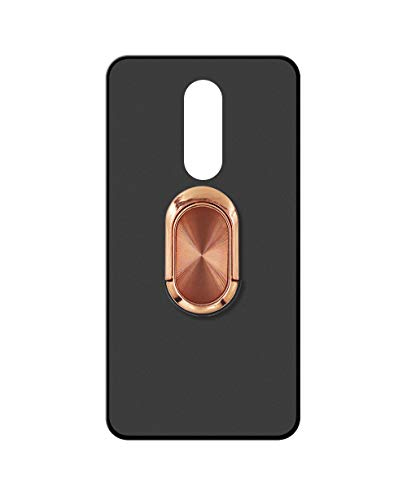 Sunrive Kompatibel mit Wiko Wim Lite Hülle Silikon, 360°drehbarer Ständer Ring Fingerhalter Fingerhalterung Handyhülle matt Schutzhülle Etui Hülle (A4 Orange) MEHRWEG