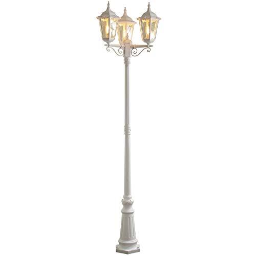 Konstsmide Firenze 7217-250 staande lamp B: 57,5 cm D: 57,5 cm H: 220 cm / 3 x 100 W / IP43 / gelakt aluminium/mat wit