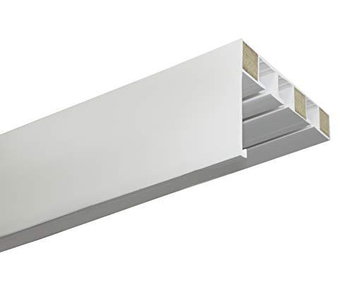 Gardinia Vorhangschiene mit Blende P2Ü weiß 180 cm