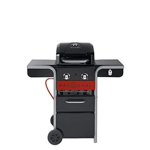 Char-Broil 140924 Gas2Coal 210 Hybrid Grill Gas Barbecue, Black