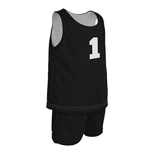 Game Gear Mesh Basketball Jersey and Shorts for Baby Boys and Girls, Kids Reversible Tank Top w/Shorts