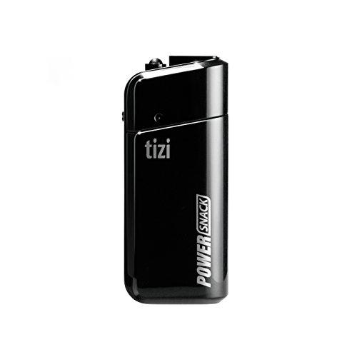 equinux tizi PowerSnack - universelles Ladegerät für den Notfall zum Nachladen von USB-Geräten mit Zwei konventionellen AA Batterien
