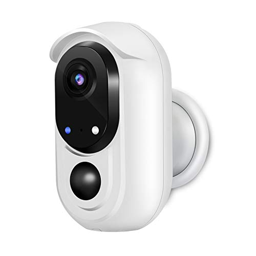 WOHOME Wireless Rechargeable Battery Powered WiFi Camera Outdoor/Indoor,1080P Home Security Camera with Night Vision,2 -Way Audio,Cloud,IP65 Waterproof,Works with Alexa/Google