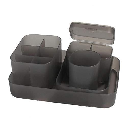 Titular de almacenamiento de maquillaje del sostenedor del organizador de cosmética caja de almacenamiento ajustable pluma diamante organizador de maquillaje 5PCS armario de la cocina