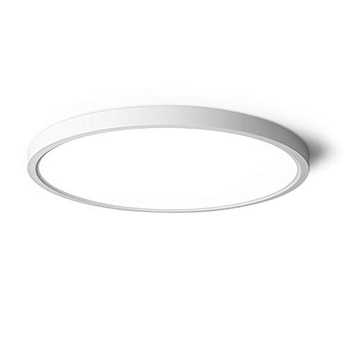 TALOYA LED Ceiling Light Living Room White, 15.8 Inch Thin Flat Modern Flush Mount Lighting Fixture for Bedroom,3 Color Temperatures in 1(3000k/4000k/6000k), 24w Round 0.94 Inch Thickness