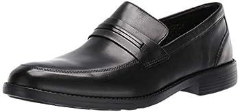 Bostonian mens Birkett Way Penny Loafer Black Leather 8.5 Wide US