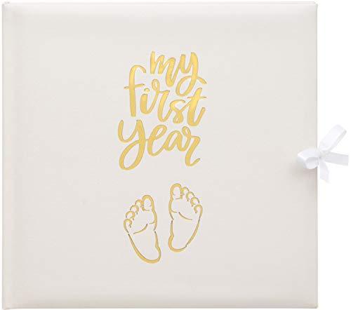 Baby's My First Year Record Logbuch zum Gedenken der Geburt durch ihr erstes Jahr auf Erde, Weiß