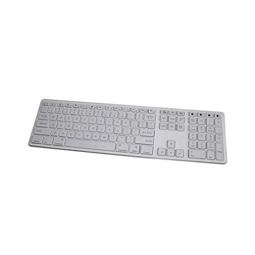 ZUEN Teclado Bluetooth, 109 Teclas Teclado inalámbrico Ultrafino de...