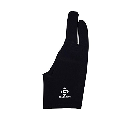 GAOMON Zwei-Finger Lycra Handschuh für Grafiktablett/Leuchttisch/Pen Display - Freie Größe