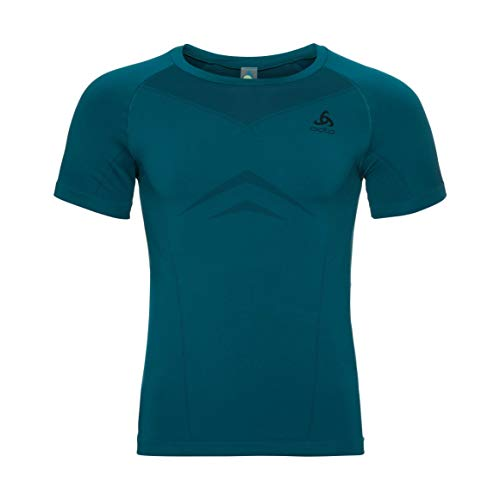 Odlo Homme Performance Light Suw Top Manches Courtes, Deep Lagoon - Diving Navy, L
