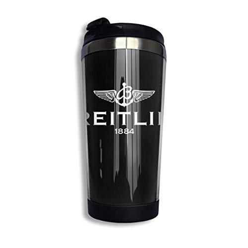 vfrtg Tazza da viaggio in acciaio inossidabile Breitling Merchandise Insulated Vacuum Stainless Steel Tumbler Cup 13.5oz Coffee Travel Mug