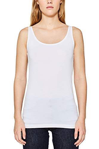 ESPRIT Damen 997EE1K816 Top, Weiß (White 100), Medium