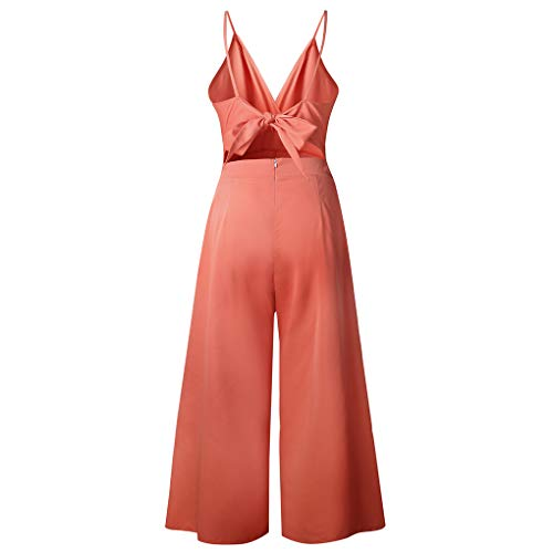 Floridivy Sleeveless Vrouwen Lange Broek Jumpsuit jumpsuit, Vrouwen mouwloze jumpsuit, Vrouwen sleevele Meisje V-hals Strap Pure Color Clothes