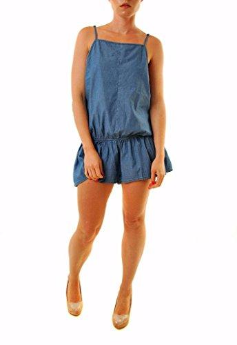 One Teaspoon chambray tutina Denim blu formato delle donne Cucchiaino M