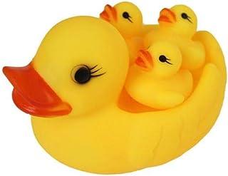 4 قطعة / الوحدة لينة المطاط الأم والطفل بطة صفراء حمام السباحة لعب الأطفال المياه اللعب ضغط الصوت الاطفال اللعب هدايا عيد
