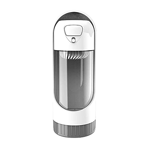 PULLEY Botella de agua portátil para mascotas, de grado alimenticio, ABS a prueba de fugas, dispensador de agua ligera, botella de agua potable, para viajes al aire libre, para caminar (color: gris)