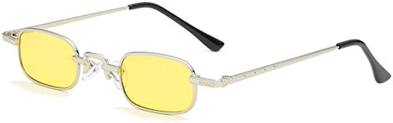 Sunglasses, Small Box Men's and Women's Sunglasses, colorful NarrowRimmed Glasses (2Pcs)