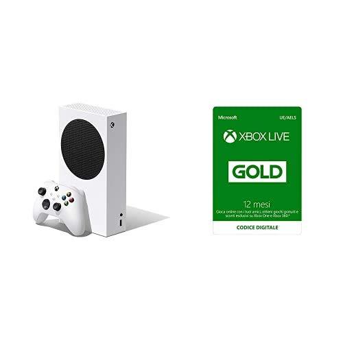 Xbox Series S + Xbox Live Gold - 12 Mesi (Xbox Live - Codice download)