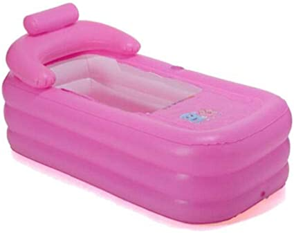 Blue Portable Foldable Bathtub PVC Bathtub for Adults Inflatable Adult Spa Tub Bath Ideal for Hot Bath Ice Bath