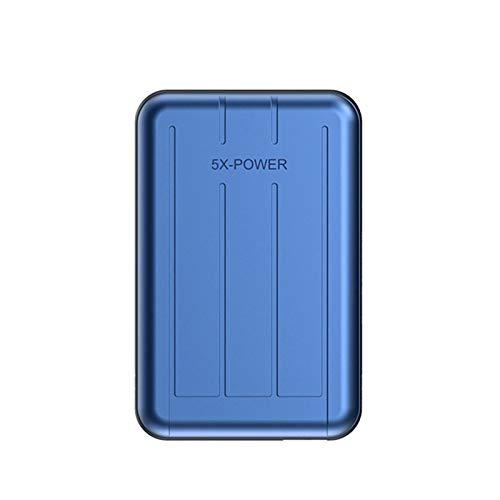 Mini Power Bank Quick Compre per iPhone 12 12Pro 12Promax 12mini Magnete Wireless Ricarica PD20W Fast Charger (Color : 5000mAh, Plug Type : Blue)