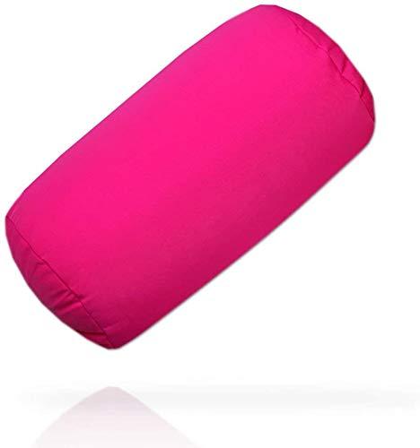Pink Kissen, Kuschelkissen Nackenrolle Mikroperlen Füllung, Nackenkissen Pink Rosa. Hochwertiges Softkissen super leicht und weich
