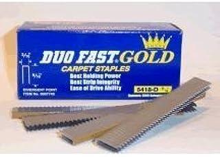 "2 Boxes DUO-FAST 5418D 9//16/"" Electric Tacker Carpet Staples 5000 Per Box"