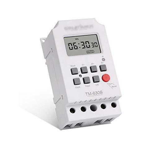 Huachaoxiang El Temporizador Digital, para Su Instalación En Paneles De Control con Semanal Pantalla LCD Iluminar La Calle Luces Publicidad,Blanco