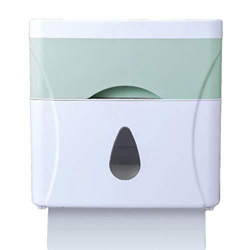 L_shop Kunststoff-Toilettenpapierbox Lochfreie Toiletten-Zeichenbox Quadratische multifunktionale, Bequeme Aufbewahrungsbox für Badezimmer,Grün