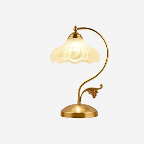 Lámpara de Mesa Americana lámpara de Mesa Retro E27 con el botón del Interruptor de la Plancha de Vidrio con Textura cálida y Creativa lámpara de Escritorio for la Sala Lámpara de Mesita