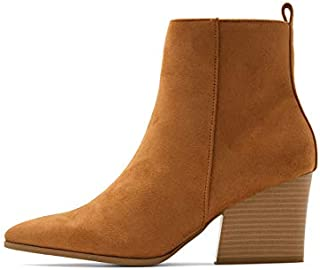 Matt & Nat Ming Vegan Faux Suede Ankle Boot in Chilli