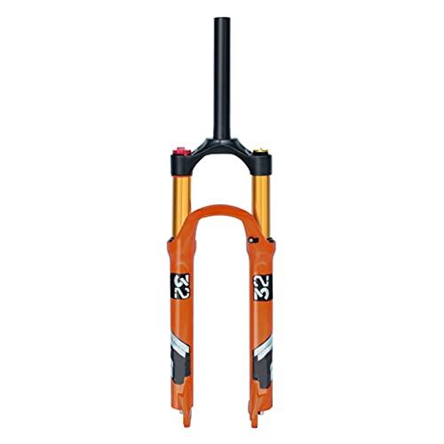 UPPVTE MTB Bicicleta Suspensión Tenedor, 26/27.5/29 Pulgadas Horquilla De Aire De Aleación Magnesio Viaje 140mm Eje De Freno Disco 9MM QR Manual Bloqueo (Color : Straight Tube HL, Size : 27.5inch)