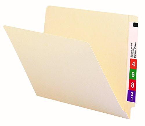 Smead End Tab File Folder, Shelf-Master Reinforced Straight-Cut Tab, Letter Size, Manila, 100 per Box (24109)