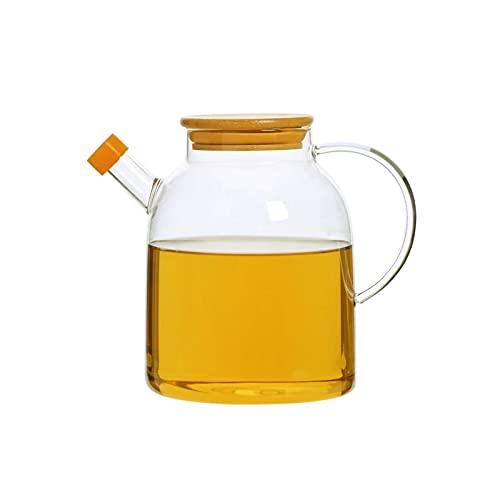 YUZZZKUNHCZYH Aceitera Spray, Dispensador de botellas de aceite y vinagre, botella de aceite de oliva de vidrio, botella de aceite a prueba de fugas, botella de almacenamiento de aceite de gran capaci