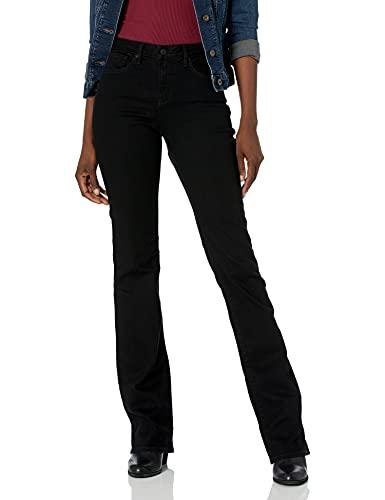 NYDJ Women's Misses Marilyn Straight Denim Jeans, Black BDM, 10