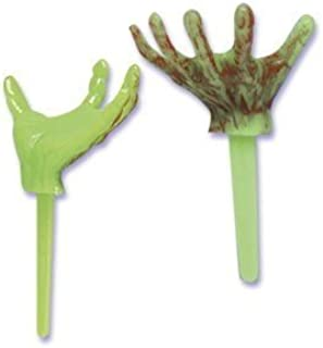 24 ct - Halloween Monster Hand Cupcake Picks