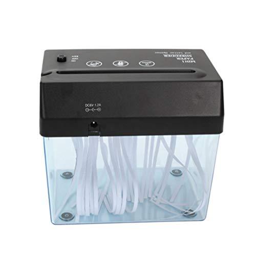 Toyvian Trituradora de Papel Mini Trituradora Usb para Trituradora de Papel Tarjeta de Crédito Trituradora de Oficina en Casa