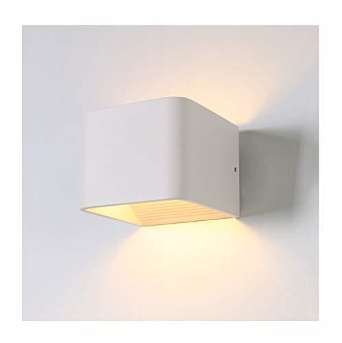 Lampe murale applique Applique murale simple en fer forgé LED salon chambre à coucher étude de couloir-10/20 / 37cm (taille : 6W/10 * 8 * 10CM)