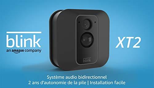 Blink XT2 | Caméra de sécurité connectée, Intérieur/extérieur, avec stockage dans le Cloud, système audio bidirectionnel, 2 ans d'autonomie de la batterie | Kit 1 caméra