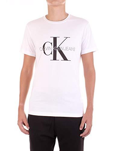 Calvin Klein Iconic Monogram SS Slim Tee Maglietta, Bianco (Bright White Yaf), Medium Uomo