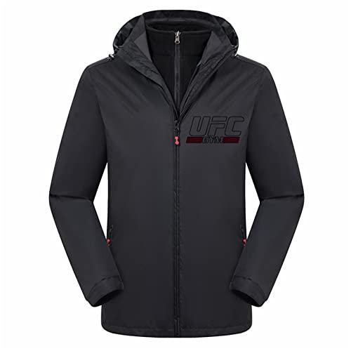 Sudadera con capucha impresa para adolescentes, otoño con impresión UFC MMA Fitness Sportswear, regalos para los fanáticos de los eventos en vivo de UFC (color: negro, tamaño: XL)