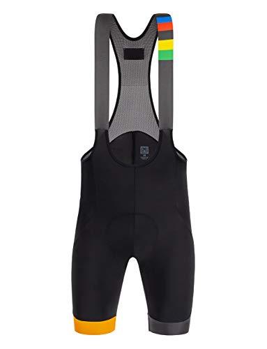 Santini UCI Eyes, Pantaloncini Uomo, Multicolore, XXL