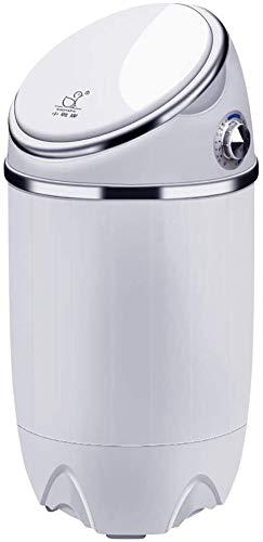 Kylin-k 3.5kgs Cápsula Lava y Seca Mini Lavadora Lavadora portátil automático Mini máquina de lavandería, Función de bajo Ruido BLU-Ray de lavandería, Blanca (Color : White)